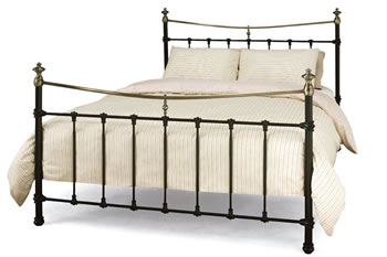 Super King Size Bed, Victorian Style Metal Frame